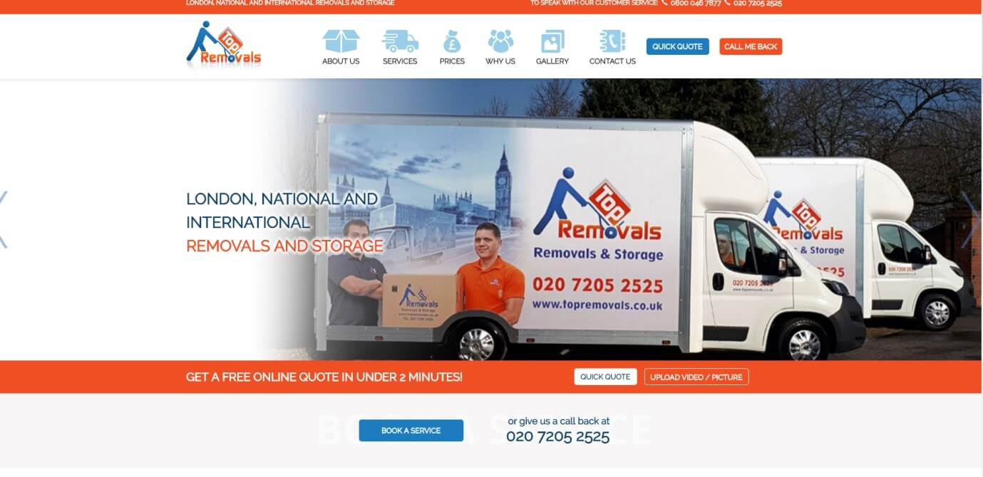 Top Removals New Website Now Live