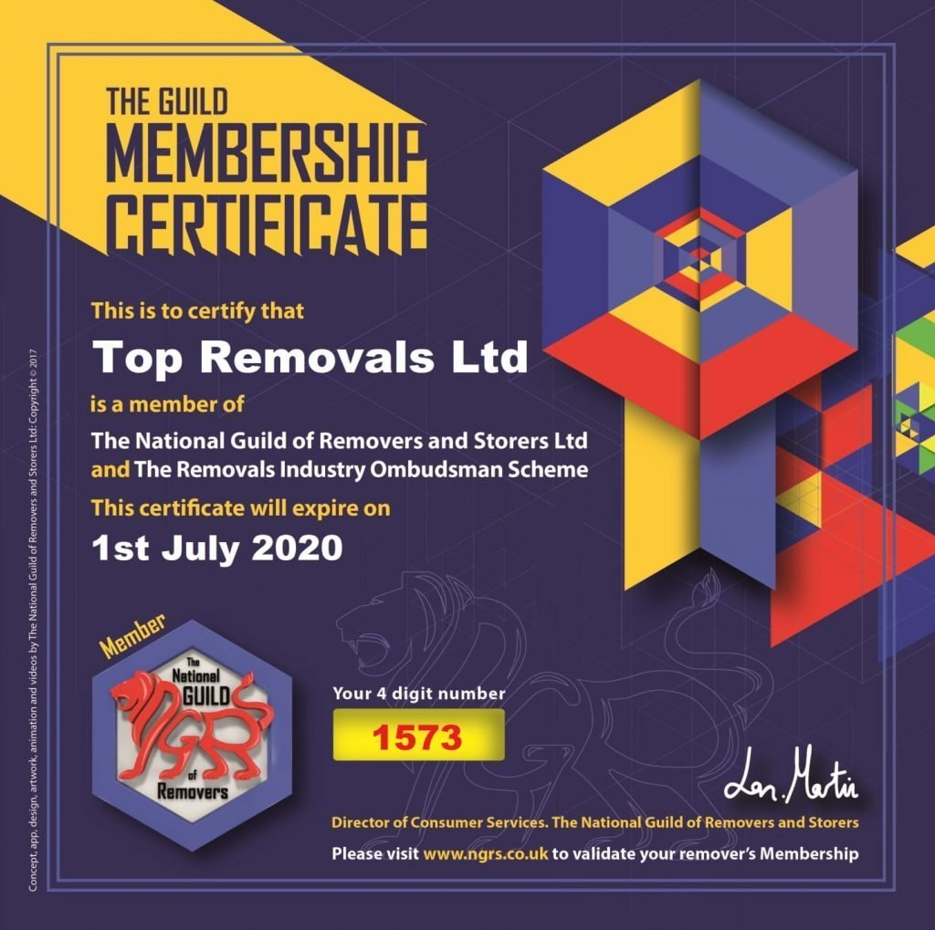 NGRS Membership Certificate Top Removals