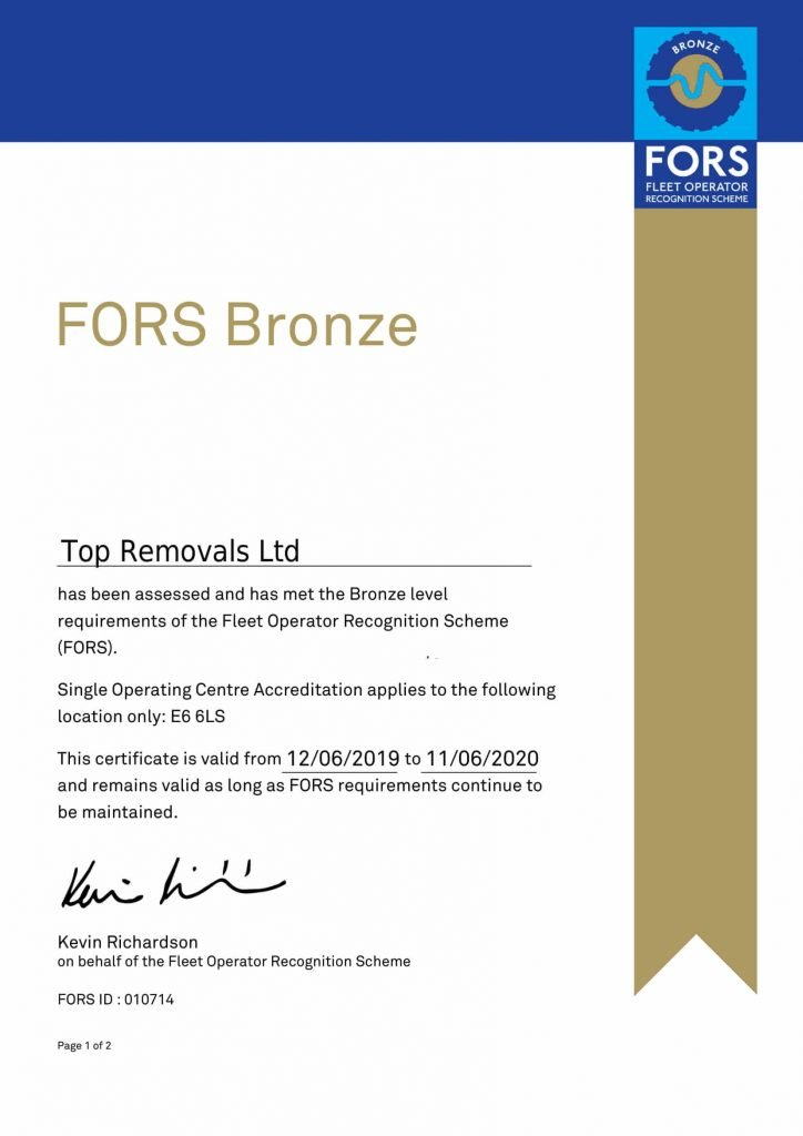 Bronze Top Removals Ltd