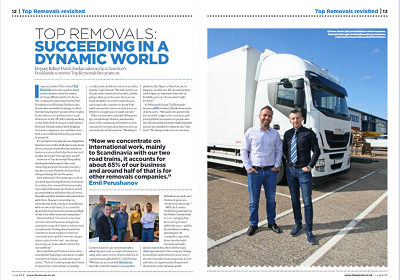 Top Removals in the Mover magazine