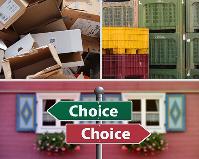 Cardboard boxes or Plastic crates for your London removals