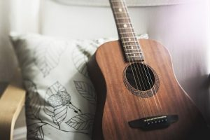 guitar in a London house