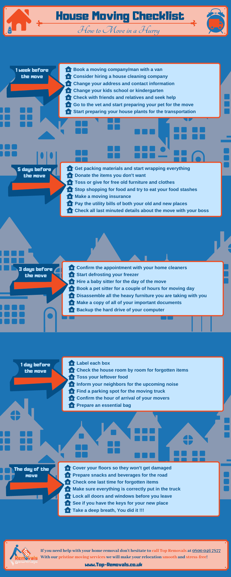 House Removals Checklist
