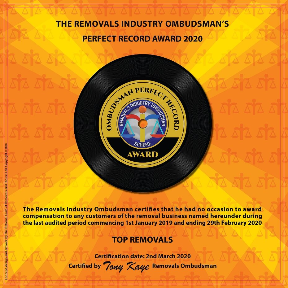 The Perfect Record Award Top Removals