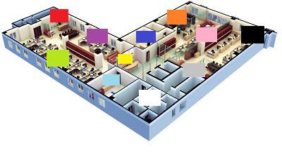 office plan colour coding